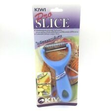 Peeler Slicer Knife KIWI PRO SLICE Vegetable with Zigzag Stainless Blade Blue