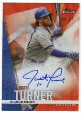2017 Topps Finest Autograph Red Wave Refractor AUTO /25 JT Justin Turner Dodgers