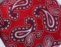 "US Seller New 10"" 100% Silk Pocket Square Men's Handkerchief Red Western Paisley"