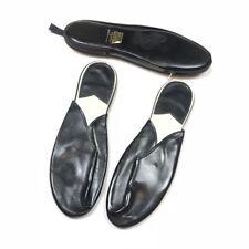 Tops All Men's Medium Black Zipper Travel VINTAGE Slippers House Shoes JAPAN b5