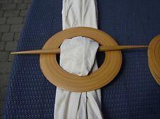 Extravagante 70er Vorhang Ringe/Holz Gardienen Aufhängung Danish Design Vintage