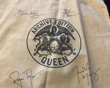 Queen Band Officlal 2011 Website Archive Edition Cream Tote Bag with Signatures