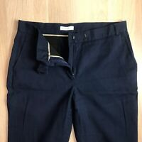Whistles Womens Work Trousers W29 L25 Navy Blue Tapered