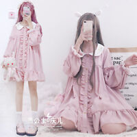 Japanese Girl Lovely Sweet Princess Lolita Long Sleeve Dress Doll Collar Skirt