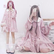 Japanese Girl Lovely Sweet Princess Lolita Long Sleeve Dress Doll Collar Skirt