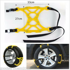 3 Pcs/Set Car Off-Road Snow Safety Emergency Wheel Tire Antiskid TPU Chain Mesh