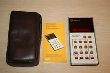 Vintage Rockwell Electronic Calculator 8R Tested Working w/ Case & Instructions