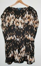 Women's Derek Lam DisgNation Multi Colored Floral Brushstroke Dress XL Tie Short