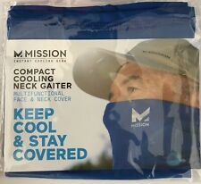1 MISSION COOLING Compact Half Gaiter / Neck FACE MASK Blue NEW