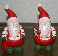 Figuren Nikolaus 2erSet 12 cm hoch  stehend Terracotta bemalt Weihnachtsmänner