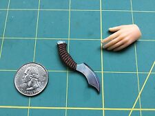 """Woven Grip Fantasy 5"" 1:6 Scale Knife Custom Steel Miniature By Auret"