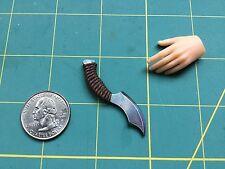 """""""Woven Grip Fantasy 5"""" 1:6 Scale Knife Custom Steel Miniature By Auret"""