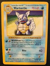 Pokémon SHADOWLESS Base Set Wartortle Card 42/102 WOTC 1999 Mint/Unplayed
