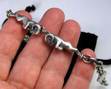 Gorgeous THEO FENNELL Alias Oxidized Ram Sterling Silver 26.2 Gram Bracelet