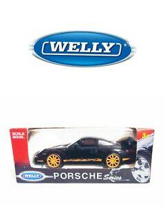 PORSCHE 911 GT3 RS BLACK WELLY 1/34-1/39 VOITURE