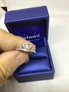 Enchanted Disney Diamond ( FROZEN ) Sterling Silver Princess Heart Crown size 7
