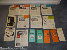 DRAKE BROCHURES 4 CATALOGS 2A 2B TR-4C TR-4 R-4B C-4 2-C L-4B R-4C FILTERS
