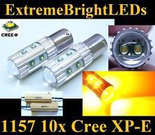 TWO Amber Orange 50W 10x Cree XP-E 1157 2357 Turn Signal Lights + Load Resistors