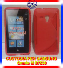 Pellicola+Custodia cover case WAVE ROSSA per Samsung Omnia M S7530 (B8)