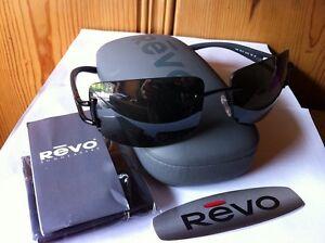 NEW REVO RE3069 001/X7 MATTE BLACK / POLARIZED GRAY MIRROR SILVER GRADIENT
