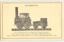 Stourbridge Lion 1st Locomotive Delaware Hudson Railroad Antique Postcard 25550