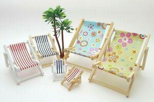 Deko Liegestuhl 10-15cm viele Muster + Farben Urlaub Geldgeschenk Strand Maritim