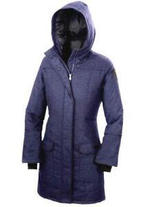 """Canada Goose Coat Branta """"Torino"""" Black Label Large Jacket Blue Heather £1225"""