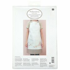 RICO Design EMBROIDERY KIT Traced CHERRY BLOSSOM Pinny APRON Floral NEW
