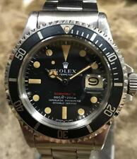 VINTAGE ROLEX RED SUBMARINER 1680 2,5M SERIAL ca. 1970, UNPOLISHED PUNCHED SET