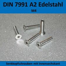 50 St Innensechskantschrauben DIN 7991 M4x25  EDELSTAHL A2 M4 x 25