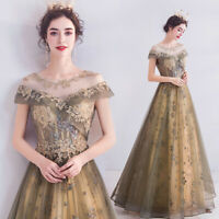 New Evening Formal Party Ball Gown Prom Bridesmaid Embroidered Bead Dress TS1296