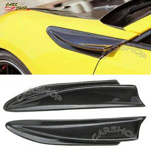 For Toyota GT86 BRZ Scion FR-S 12-20 Real Carbon Fiber Side Fender Vent Fin Trim