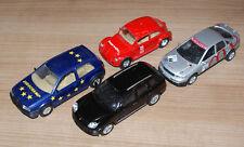 4 x Veicolo Porsche, Maggiolino, Audi, Golf Welly n. 79b