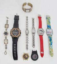 Lot of 9 Ladies' & Men's Watches - Fossil, Disney, Geneva, Armitron, Betty Boop