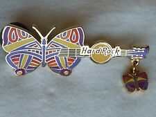 Hard Rock Cafe On-Line Butterfly with Dangle Guitar '07 Pin