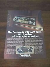 1979 VINTAGE PROMO PRINT AD FOR THE PANASONIC 200 WATT DASH CAR RADIO CQ-7600