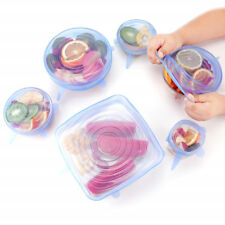 Silicone Stretch Cover lids to keep food fresh / GOOD QUALITY+VALUE UK SELLER