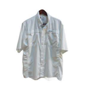 SIMMS Guide Series Button Front Fishing Shirt Short Sleeve White Size L Large