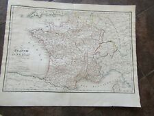 1838 ORIGINAL Map of  France in Departments