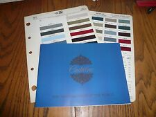 1967 Cadillac Sales Brochure with Ditzler Interior & Exterior Paint Colors Chips