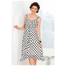 BNWT Capture Black White Polka Dot Dress sz12