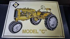 "Allis-Chalmers Model ""C"" Tractor Metal Sign Wall Ad Sign Mancave Garage Vintage"