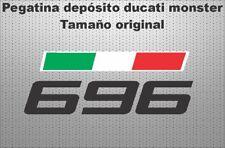 Pegatina depósito ducati monster 696 stickers decals calcas adhesivos vinilos