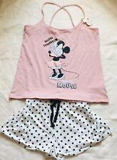 Primark Ladies DISNEY MINNIE MOUSE Pyjamas Women's Girls Cami Vest Top Shorts