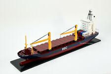 "BBC Break Bulk Waterline Cargo Ship with Cranes 40"" Handmade Wooden Ship Model"