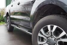 """Black Side Steps for Ford Ranger 4"""" Oval Speedway Side Bar Steps PAIR"""