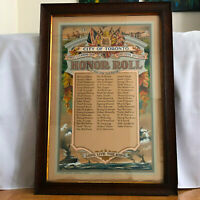 1916 WW1 HAND PAINTED Military Soldier's Honor Roll Toronto Canada City Hall