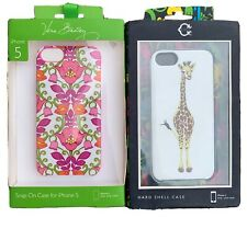 Vera Bradley iPhone 5 Snap On Case Lilli Bell Wonder Giraffe Hard Shell 2 Cases
