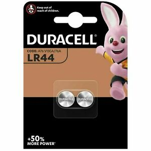 DURACELL LR44 Piles Bouton Alcaline 1,5V Blister de 2 Piles - Date 11/2024
