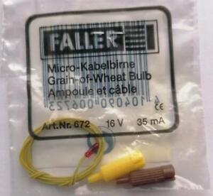 ** Faller 672 Grain of Wheat Bulb Red and Wire 16 Volts 35 mA  Pkt 1